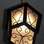 Подвесной уличный фонарь другим манером.